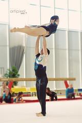PIXE2646 (David COMPAIN) Tags: sol sport couple duo tours technique discipline lgance geste gymnastique ffg cohsion acrobatique regioncentre artipixel