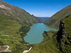 Stausee Wasserfall Boden (Roger Hanuk) Tags: alpine austria dam kaprun mountainrange reservoir valley salzburg at