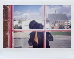 Self-Portrait. 2016. (freedomflash) Tags: instant reflected selfportrait fuji window fujifilm wide instax analog film