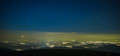 Starlight (Nexwayz) Tags: plaine grand ballon nuit lumiere ville mulhouse ciel etoile voie lacte milky way