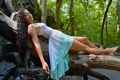 'Laying Around' (miranda.valenti12) Tags: laying around atheena lay trees tree green greenery pose posing balance outside outdoors forest woods hike hiking log logs water waterfall waterfalls rock rocks