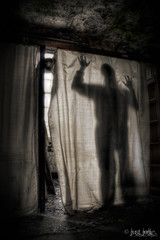 Nyctophobia (Just Josie) Tags: shadow urban abandoned hospital dark shadows decay sinister ward asylum derelict decayed decaying urbex fearofthedark abandonedhospital abandonedasylum derelicthospital nyctophobia derelictasylum hospitalcurtains