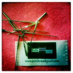 Stitching The Day Away (PuNk rAwK pUrL) Tags: sewing tags labels punkrawkpurl johnslens hipstamatic inas1935film