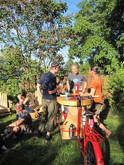 sunny day keg_03 (METROFIETS) Tags: green beer bike bicycle oregon garden portland construction paint nw box handmade steel weld coat transport craft cargo torch frame pdx custom load cirque woodstove builder haul carfree hpm suppenkuche stumptown paragon stp chrisking shimano custombike cargobike handbuilt beerbike workbike bakfiets cycletruck rosecity crafted 4130 bikeportland 2011 braze longjohn paradiselodge seattlebikeexpo nahbs movebybike kcg phillipross bikefun obca ohbs jamienichols boxbike handmadebike oregonhandmadebikeshow nntma hopworks metrofiets cirqueducycling oregonmanifest matthewcaracoglia palletbike oregonframebuilder seattlebikeshow bikefarmer trailheadcoffee
