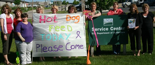 USDA employees in South Dakota raise money to fight cancer-- Left to Right…Rhonda Anderson, team captain, Stacy Smith, Susan England, Pam Smith, Ruth O'Neill, Gayle Besch, Jane Jensen, Denise Miller, Melisa Byrne, and Gaby Bassett