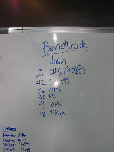 "Crossfit: Benchmark Workout ""Josh"""