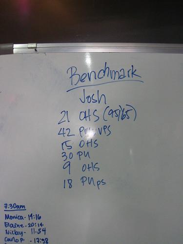 "Crossfit: Benchmark Workout ""Josh"""