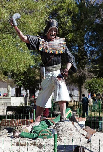 Statue in Tarabuco's square