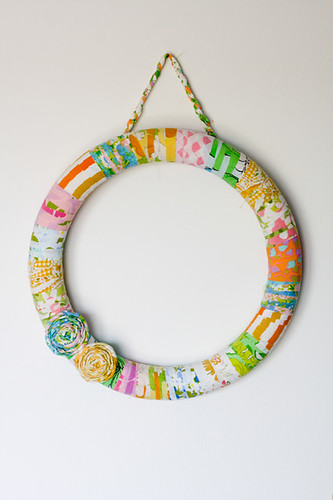 Vintage Sheet Wrapped Wreath by jenib320