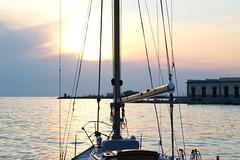 Riva 3 Novembre (TheSpaceWalker) Tags: ocean wood sunset sea dawn boat nikon tramonto mare riva wires trieste rive sailingboat riva3novembre d3100 thespacewalker