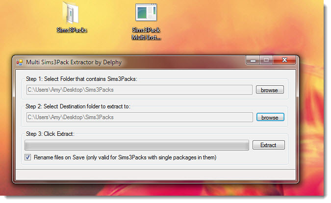 Sims3Pack Multi Installer Extractor