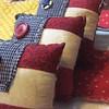 Little Flag Pillows (the Prairie Cottage) Tags: cottage patriotic americana runner prim primitive shabby ragquilt tablerunner rawedge ragquilts bowlfillers bowlfiller prairiecottagerose