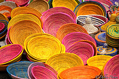 Colorful Baskets (D. Photos) Tags: nyc pink orange colors yellow baskets nikoncamera atlanticanticstreetfair debbiephotos colorfulbaskets atlanticanticbaskets nycbaskets