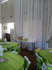 Green wedding chiffon wall (Celadon Events) Tags: wedding decorations events weddings decor centerpieces customwork ceilingtreatment