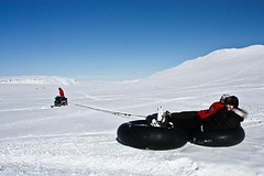Along for the ride (Nordic Visitor) Tags: travel photography iceland highlands glacier nordic snowmobile langjkull snowsled activitytour nordicvisitor