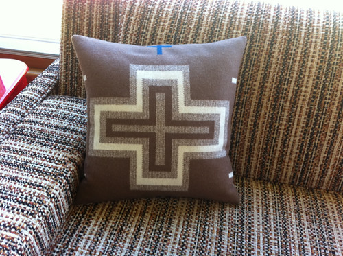 Pendleton cross pillow - back