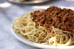 spaghetti with meat sauce @ kaboypakia
