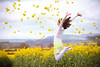 Flower Power - Jump #76 of #100 (Olivia L'Estrange-Bell) Tags: spring jump wind jumps sashabell oliviabell oliviabellphotography 100jumps tbsart