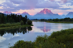 "Dawn at Oxbow Bend (IronRodArt - Royce Bair (""Star Shooter"")) Tags: park morning river dawn mt bend snake grand mount national snakeriver grandtetons teton moran range oxbow grandtetonnationalpark oxbowbend"