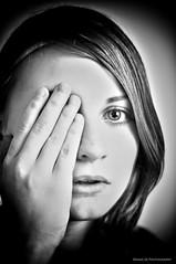 Don't cover my eyes (Kenaz.24) Tags: light portrait blackandwhite art girl beautiful beauty cs5 nikond300s kenaz24