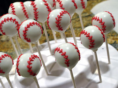 "Baseball Cake Pops • <a style=""font-size:0.8em;"" href=""http://www.flickr.com/photos/64714706@N05/7058070167/"" target=""_blank"">View on Flickr</a>"