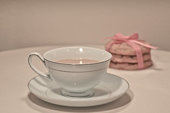 Cuppa? (Serena178) Tags: cup afternoon tea beverage biscuit ribbon saucer odc2