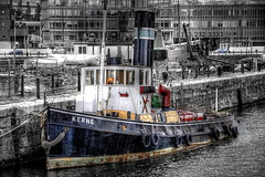 "Steam tug KERNE, Canning dock. (""Billy Shears"" photography) Tags: colour liverpool dock steam tug hdr canning selective kerne"