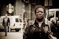 Woman (Daria Angeli) Tags: nyc woman usa face expression manhattan may streetphotography timessquare 2012 flickraward worldtrekker