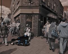 Time for a little light music (IanAWood) Tags: london nikond70 streetphotography hackey e8 broadwaymarket londonlife irphotography nikkorafs1224mmf4g walkingwithmynikon cameraconvertedtoir720nmbyprotechphotographicrepairsuckfield