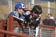 Ashley Birks and Jaimie Pickard (Richard Amor Allan) Tags: bike mud bikes cycle stokeontrent rider speedway cycles riders motorcyles scunthorpesaints stokepotters loomerroad stokeeasyriderpotters jaimiepickard ashleybirks