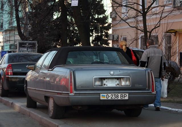ukraine cadillac deville kyiv licenseplates ??????? ???? ???????????? 0238bp