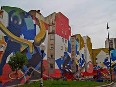 Plaza de Kirikiño (andresbasurto) Tags: plaza parque color verde azul rojo rosa colores bilbao naranja bizkaia euskadi colorido kirikiño andresbasurto