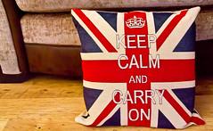 166/365 - Calming cushion (Chivers999) Tags: canon relax britain 365 tamron unionjack cushion redwhiteblue 18200mm britsh keepcalmandcarryon 60d canon60d