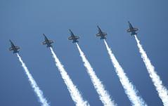 Five Angels (dcnelson1898) Tags: california blue fighter jet planes lancaster blueangels warbirds usnavy boeingfa18ahornet usnavyflightdemonstrationteam 2014losangelescountyairshow
