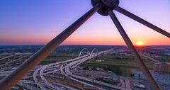 Sunset from the Reunion Tower. (djgreddy00) Tags: sonyalpha zeiss1635 zeiss sonya7ii sonyimages sony reuniontower sunset dallas