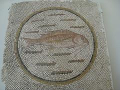 Roman mosaic (Baltimore Bob) Tags: fish rome art museum ancient roman mosaic baltimore walters