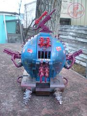 """TEENAGE MUTANT NINJA TURTLES :: """"Technodrome Scout Vehicle"""" { 1993 } KB Toys Reissue // ..detail ii   (( 1998 ))"""