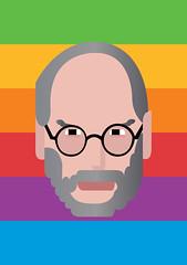 nerd: Mr.Jobs (aklimited28) Tags: nerd apple illustration print poster macintosh mac pixar stevejobs vector