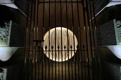 Light Orb locked up ([inFocus]) Tags: light stone wall lady night canon ball dark painting gate long exposure dam derwent south sheffield yorkshire orb reservoir sphere 7d 1022mm bower lightjunkies