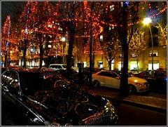 Maybach in Paris (kubse) Tags: christmas street light paris reflection car night maybach