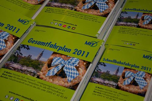 Die MVV-Fahrplanbücher sind seit heute verfügbar