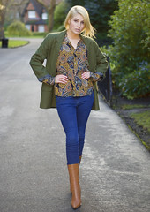 Marie Esmonde, Charity Fashion (FayeBphotography) Tags: street charity blue ireland dublin woman green wool girl fashion marie shop vintage shopping high model dress boots designer gorgeous military coat style tights blouse jacket blonde heels labels stephens cheap recession esmonde