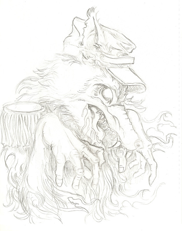 Confederate Wolf Sketch