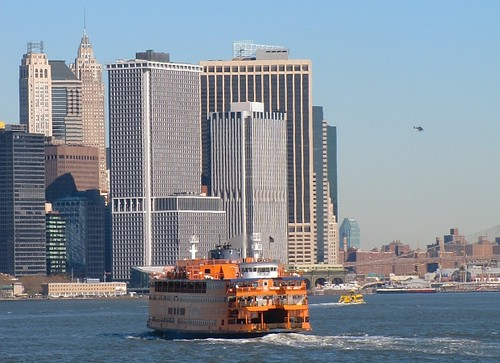Staten Island ferry and Manhattan