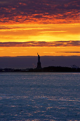 Statue of Liberty (AliJG) Tags: nyc sunset night statueofliberty