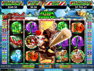 free Return of the Rudolph slot bnus feature