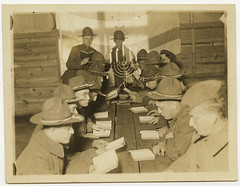 Hanukkah services for soldiers (Center for Jewish History, NYC) Tags: americanjewishhistoricalsociety ajhs hanukkah hanukah nationaljewishwelfareboardrecords jewishsoldiers menorah chaplains hanukkahservices