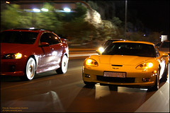 Corvette zo6 vs Lumina ss (Az. Abdulrahman Alzahim) Tags: street red yellow speed ss fast saudi arabia vs jeddah corvette holden lumina madinah 2fast zo6
