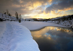 Winter Sunset (Charlotte Brett Photography) Tags: winter snow ice canal pennines diggle saddleworth huddersfieldnarrowcanal winter2010