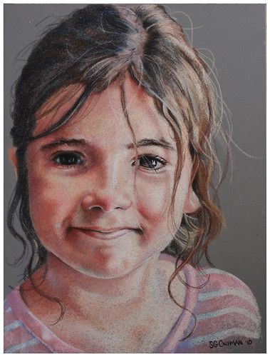 Colored pencil portrait entitled Clara, 4